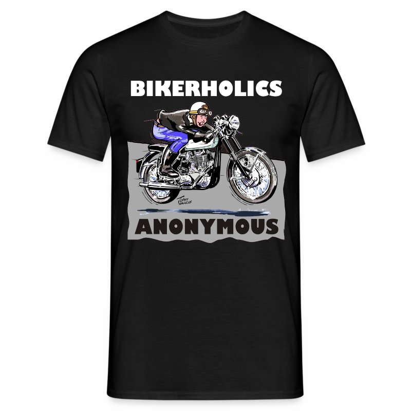 Bikerholics Anonymous - Men's T-Shirt