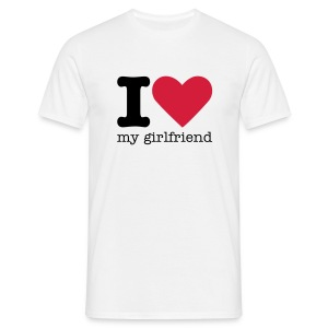I Love my girlfriend shirt - Mannen T-shirt