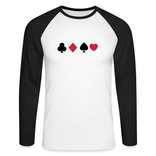 Poker Shark - T-shirt baseball manches longues Homme