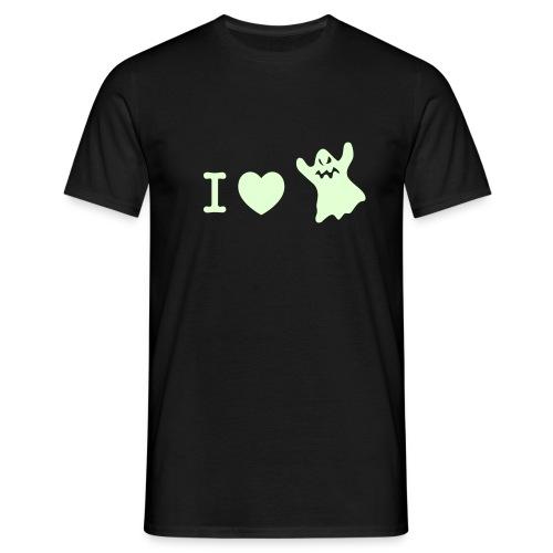 I love my ghost - glow in the dark - Men's T-Shirt