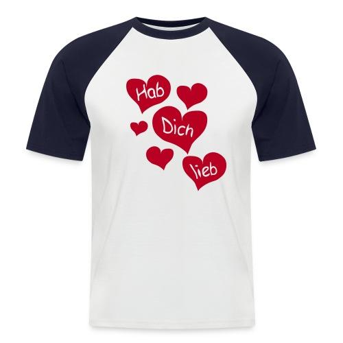T-Shirt - Ich liebe dich - Männer Baseball-T-Shirt
