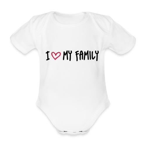 i x3 my family - Baby Bio-Kurzarm-Body