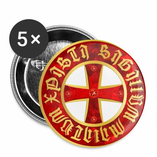 Templer Kreuz / Knights Cross Button Anstecker - Buttons groß 56 mm