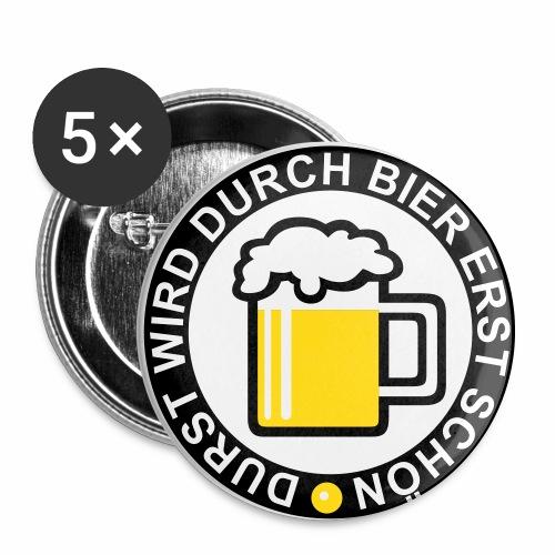 Durst wird durch Bier erst schön! Witziger Anstecker Bier Button Anstecker - Buttons groß 56 mm