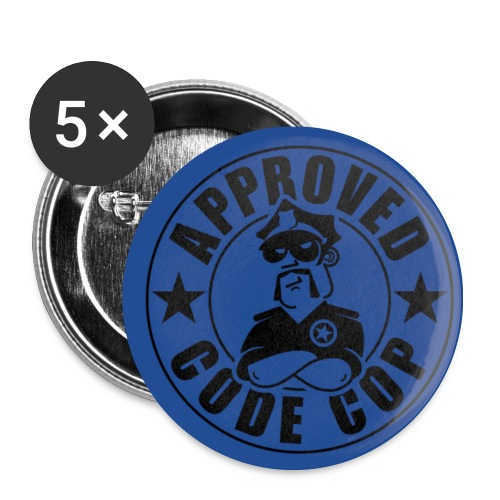 Code Cop, 'Approved' - Buttons medium 1.26/32 mm (5-pack)