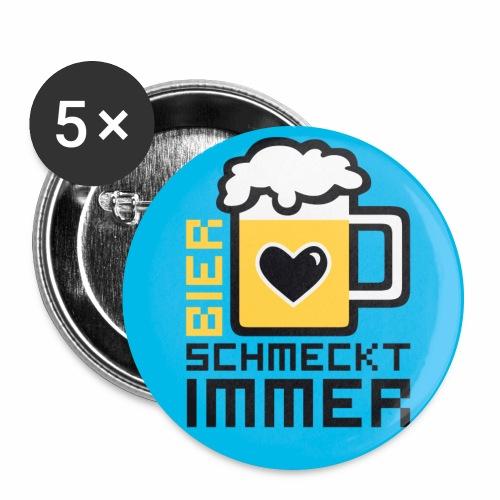 Bier schmeckt immer! Witziger Anstecker Bier Button Anstecker - Buttons groß 56 mm