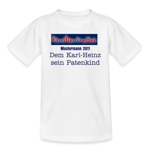 Familientreffen Ihr Name Kind - Teenager T-Shirt