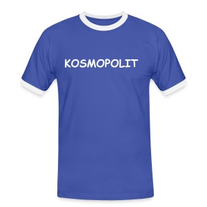 Men´s Contrast T-Shirt KOSMOPOLIT white-lettered - Men's Ringer Shirt