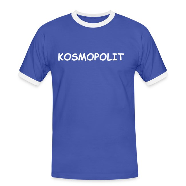 Men´s Contrast T-Shirt KOSMOPOLIT white-lettered