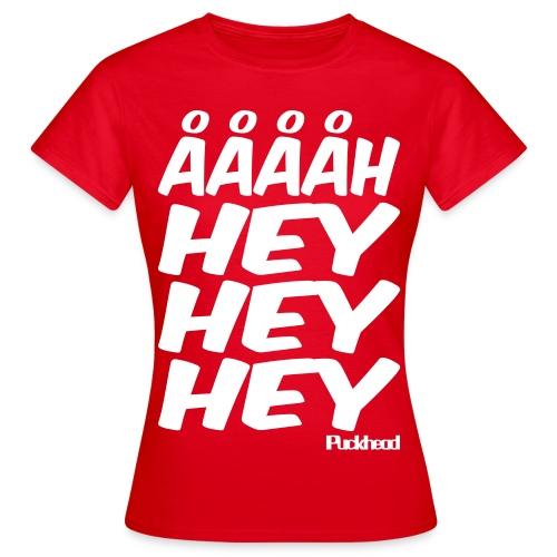 HeyHeyHey T-Shirt Rød Dame - Dame-T-shirt