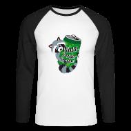 Langarmshirts ~ Männer Baseballshirt langarm ~ Long-Shirt Mr. Raccooni