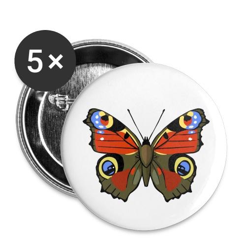 vlinder op buttons (5pack) - Buttons klein 25 mm (5-pack)