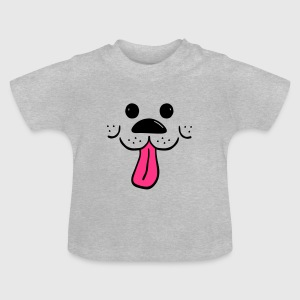 Dog with a waggly coloured tongue - Baby T-Shirt
