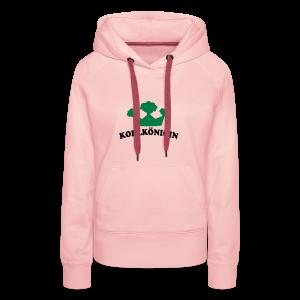 kohlkönigin   damen kapuzenpullover (hoodie)   für grünkohl und kohlfahrt - Frauen Premium Hoodie
