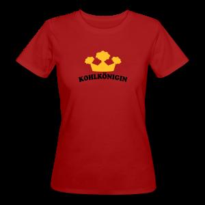 kohlkönigin   frauen t-shirt (klimaneutral)   für grünkohl und kohlfahrt - Frauen Bio-T-Shirt
