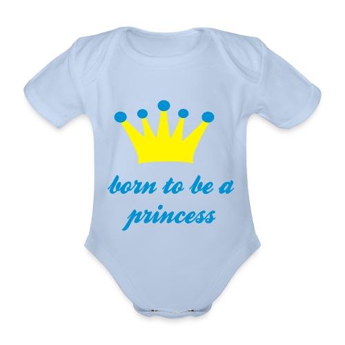 Born 2 be a princess - Baby bio-rompertje met korte mouwen