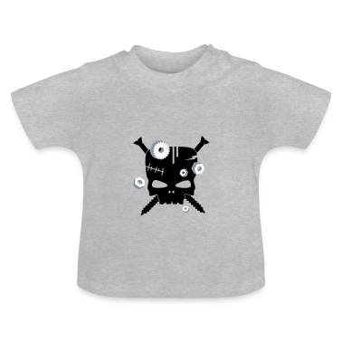 Frankenstein skull with screws and nuts Baby Shirts