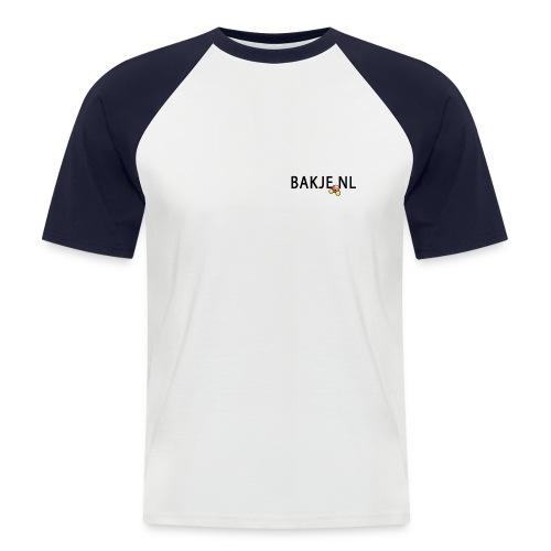 Bakje Shirt 1 - Mannen baseballshirt korte mouw