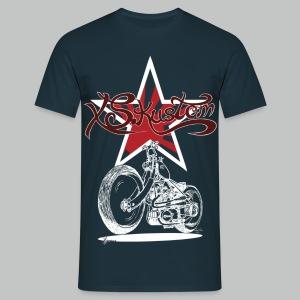 XS Kustom Japan Star - Navy - Men's T-Shirt