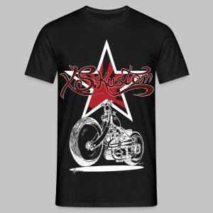 XS Kustom Japan Star - Black - Men's T-Shirt