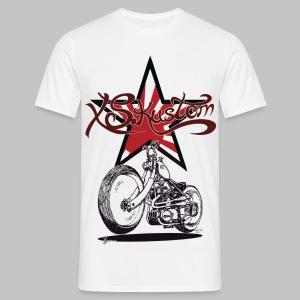 XS Kustom Japan Star - White - Men's T-Shirt