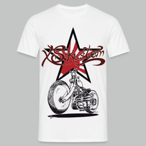 XS Kustom Japan Star - White - Men's T-Shirt