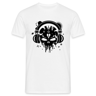 Skull with Headphones T-Shirts