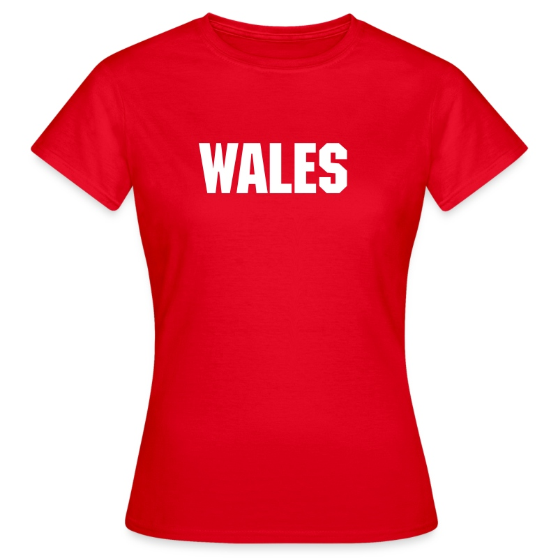 Ladies Red Wales Tee - Women's T-Shirt