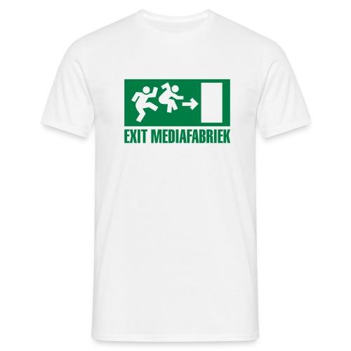 Exit Mediafabriek Logo Wit (collectors item) - Mannen T-shirt