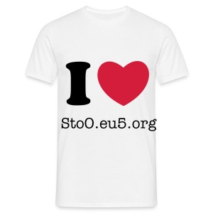 I LOVE STOO.EU5.ORG HOMME - T-shirt Homme