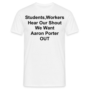 Men's T-Shirt - #ukuncut,NUS,Protests,Students