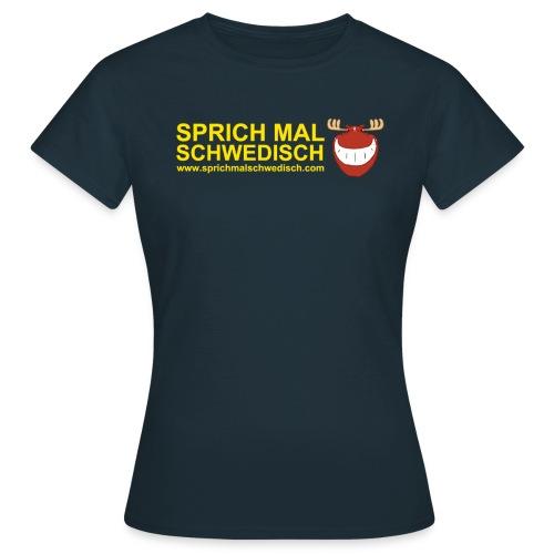 Text m. Elchkopf (Vorn) - Frauen T-Shirt