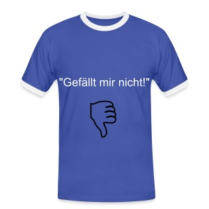 FailButton - Männer Kontrast-T-Shirt