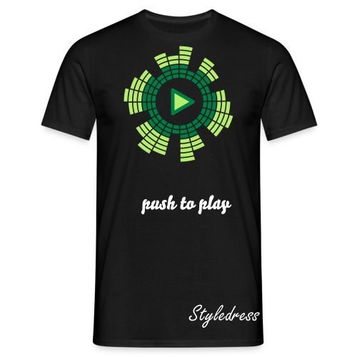 Push to Play Dress Shirt (Männer) - Männer T-Shirt