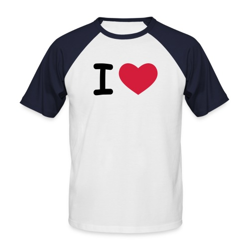 I Love - Männer Baseball-T-Shirt