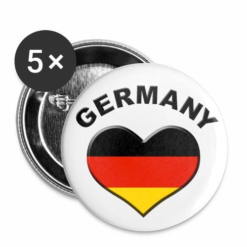 Heart for Germany - Herz für Deutschland Button Anstecker - Buttons mittel 32 mm