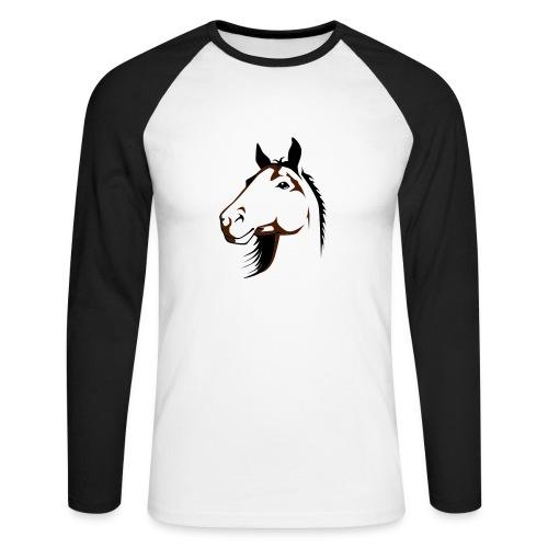 Maglia Sguardo del cavallo - Maglia da baseball a manica lunga da uomo