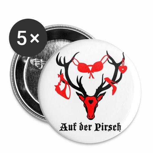 Hirsch auf der Pirsch Button Anstecker - Buttons groß 56 mm