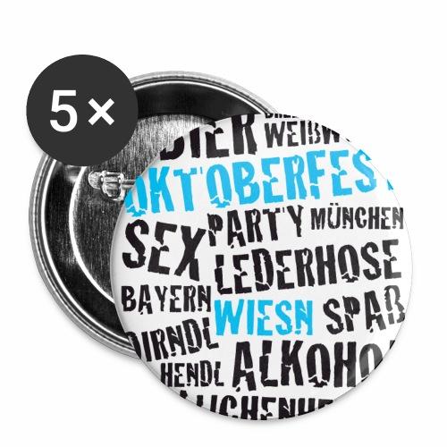 Anstecker OKTOBERFEST mit Bayerischen Sprüchen - Buttons mittel 32 mm