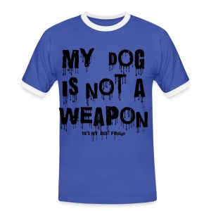 My Dog is Not a Weapon - Men's Ringer Shirt