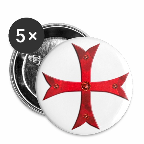 Templer Kreuz / Knights Cross Button Anstecker - Buttons groß 56 mm