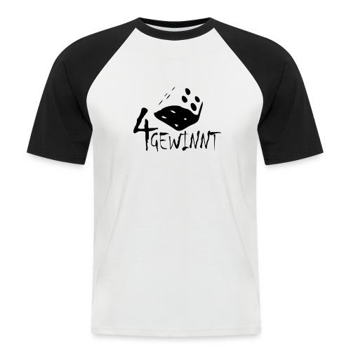 4 gewinnt - Männer Baseball-T-Shirt