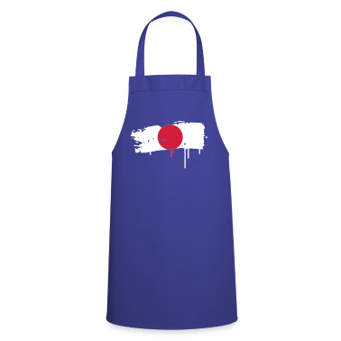 Japanese flag painted with a brush stroke  Aprons