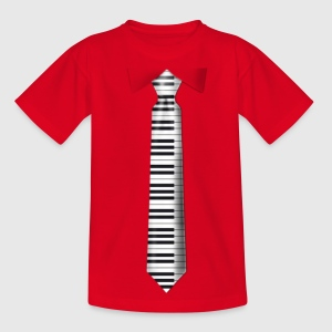 tasten_krawatte Kinder T-Shirts - Teenager T-Shirt