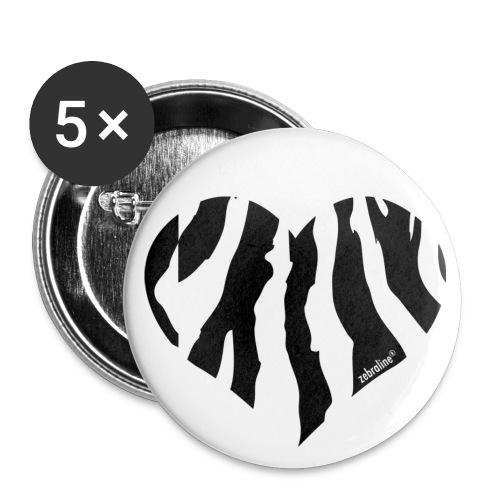 Badge I lov Zeb' - Lot de 5 petits badges (25 mm)