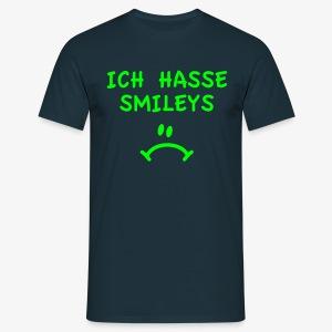 Ich hasse Smileys - Männer T-Shirt navy + alle Farben - Männer T-Shirt