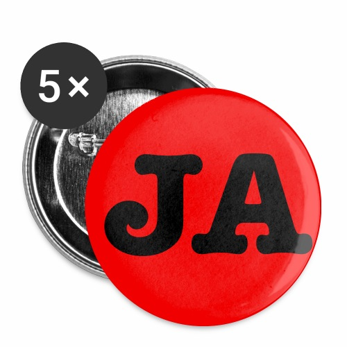 JA - für JA-Sager Anstecker Button 2c - Buttons mittel 32 mm (5er Pack)