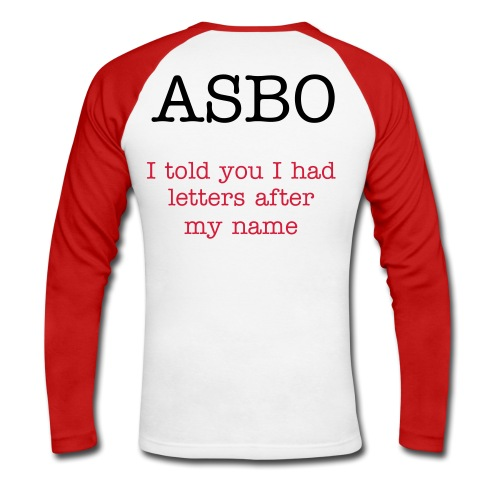 ASBO T-Shirt - Men's Long Sleeve Baseball T-Shirt