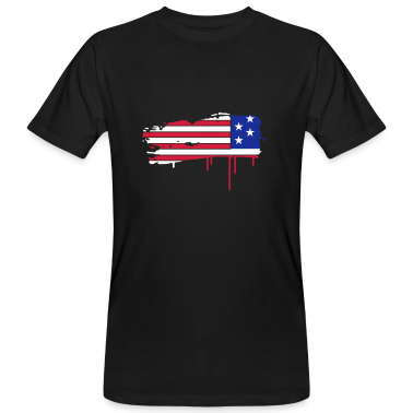 Flag of the United States painted with a brush stroke  T-Shirts