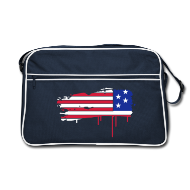 Flag of the United States painted with a brush stroke  Bags